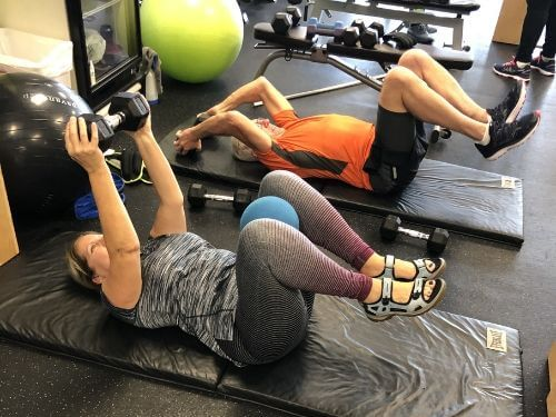 personal training clients working out