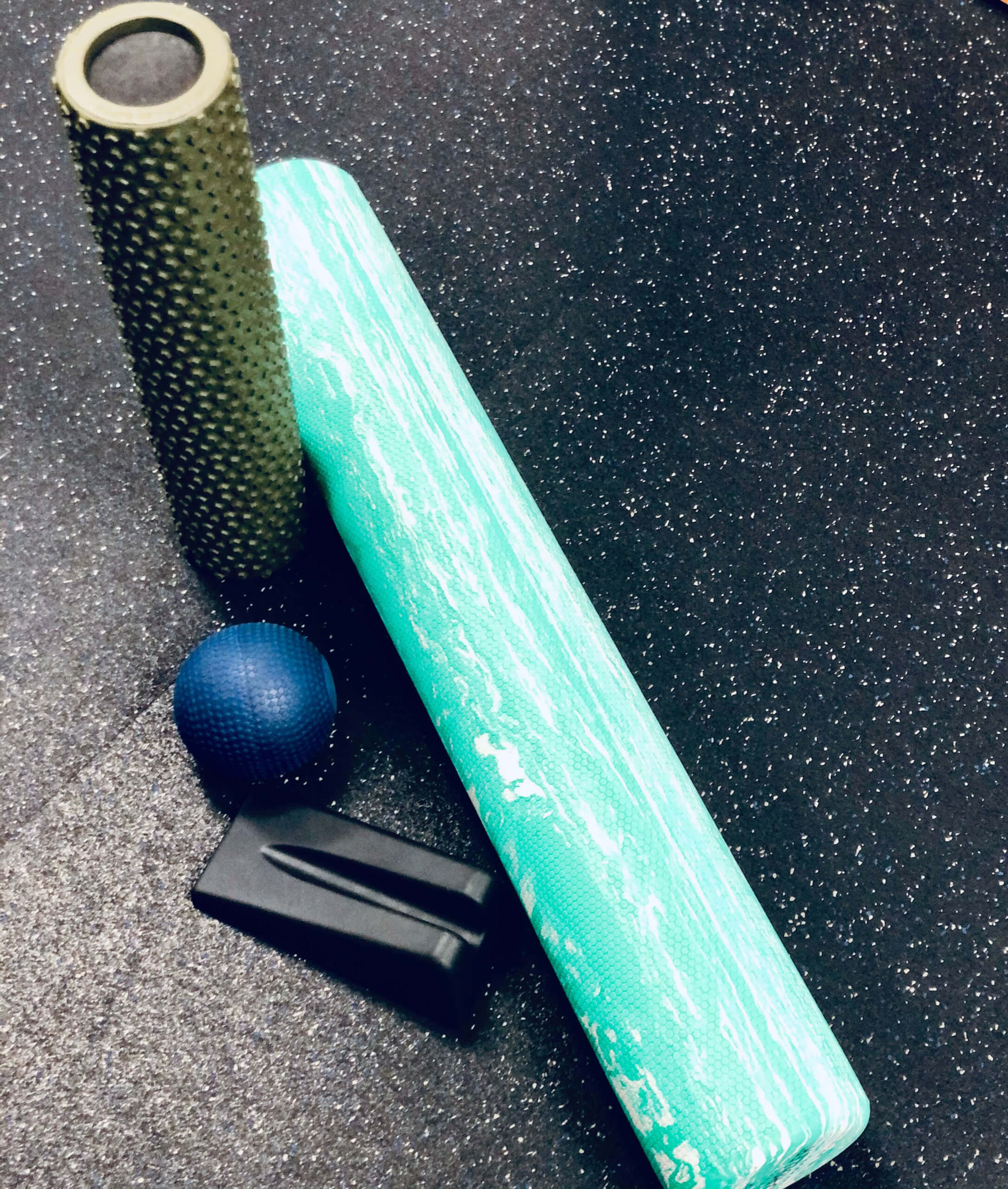 stretching and foam rolling class